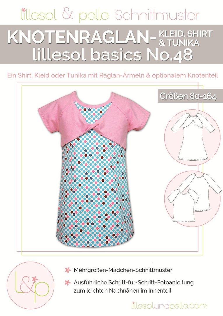 Urmelis Stoffwelt- lillesol basics No.48 Knotenraglan Kleid, Shirt ...