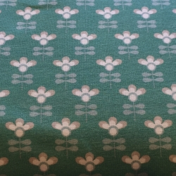 Jersey - Retro Flowers small mint